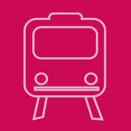 train icone: Train ic�ne illustration Illustration