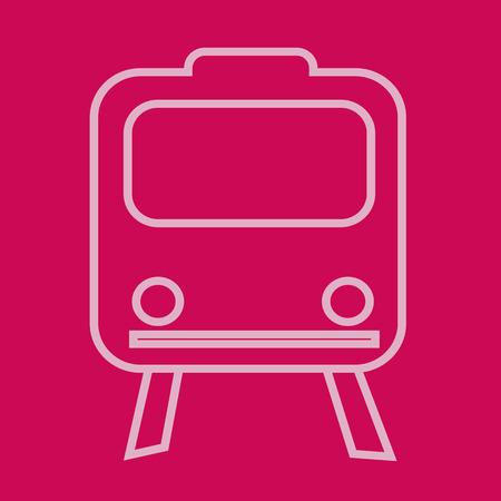 locomotion: Train Icon illustration