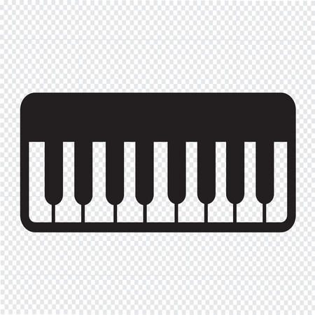 ebony: Piano Icon illustration