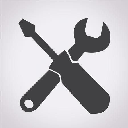 Tools icon illustration Illustration