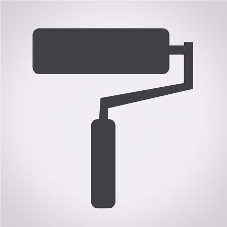 adorning: paint roller icon illustration