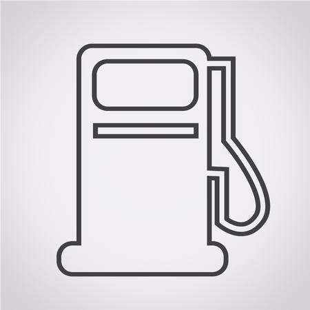 gas pump: Gas pump icon , oil station icon
