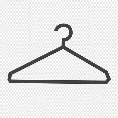 Clothes Hanger Icon illustration Illustration