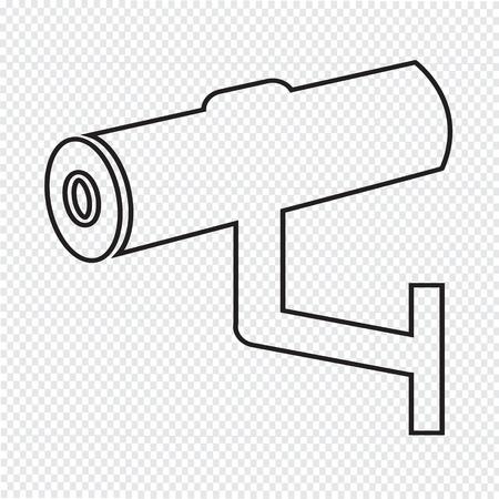 caution cctv: Cctv Icon illustration