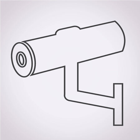 monitored area: Cctv Icon illustration