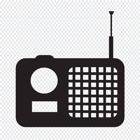 radio icon: radio icon illustration Illustration