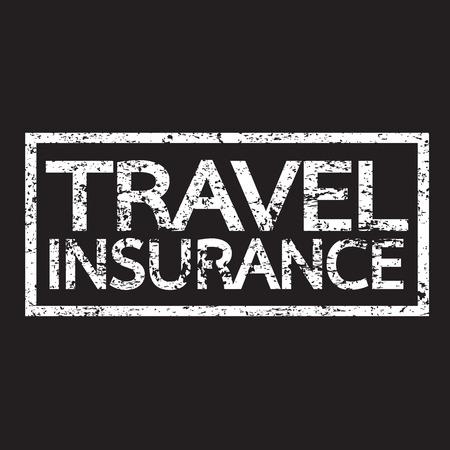 accident rate: Travel insurance  word illustration  Illustration