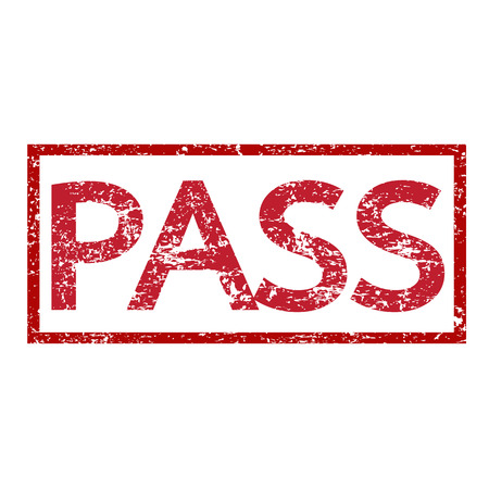stamp pass text illustration