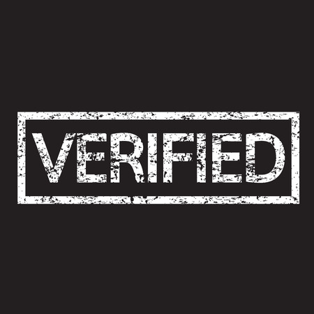 verified: stamp verified text illustration  Illustration