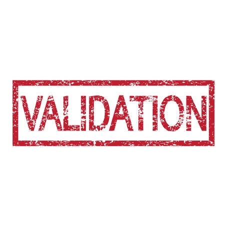 validation: stamp word validation illustration