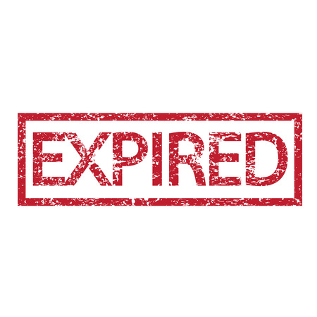 expired: expired stamp word illustration  Illustration