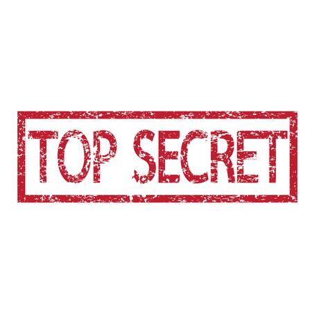 stamp text top secret illustration