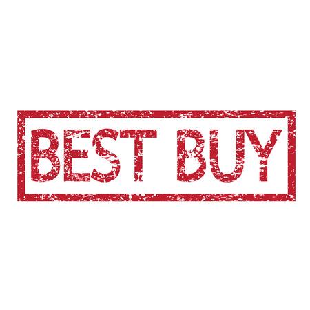 bribe: Stamp text best buy illustration  Illustration