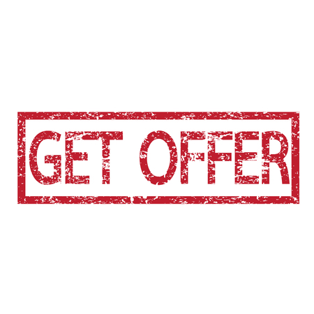 obtain: Stamp text get offer