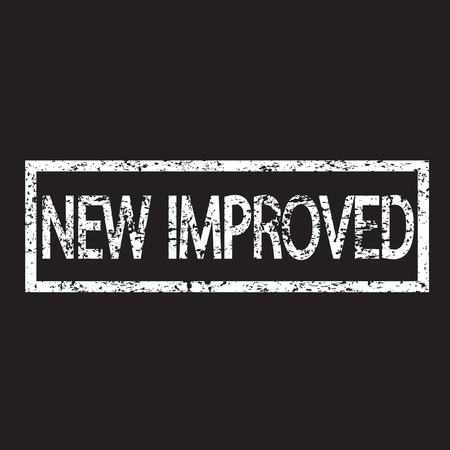 new and improved: Stamp text new improved illustration  Illustration