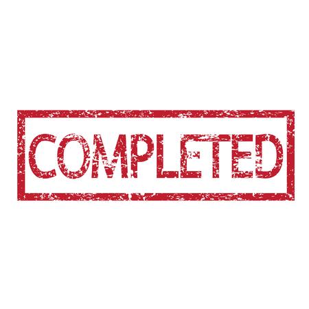 completato: Parola Stamp illustrazione completato Vettoriali