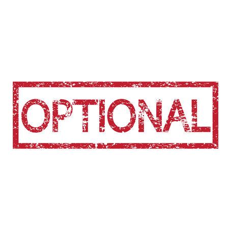 optionnel: Mot Stamp option illustration
