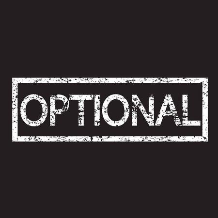 optional: Stamp word optional illustration