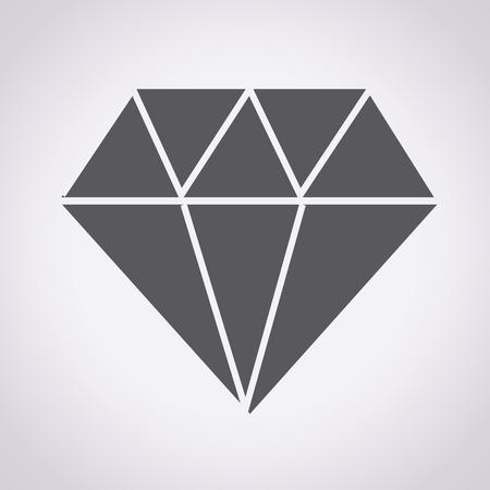Diamant icoon, diamant, diamant pictogram, diamant vector