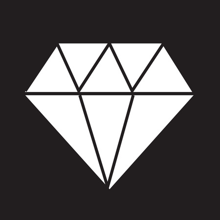 diamante negro: Icono de diamante, diamante, icono de diamante, vector de diamante Vectores