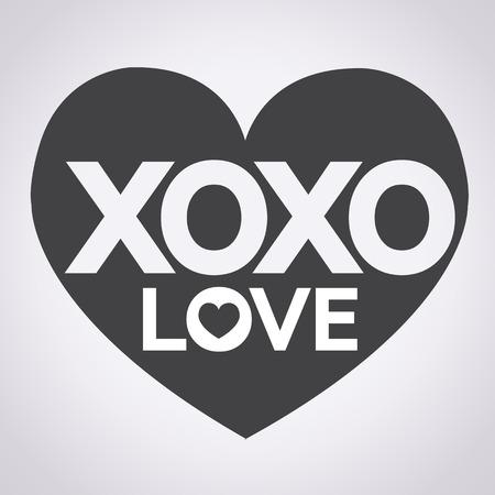 xoxo: I Love You Xoxo illustration