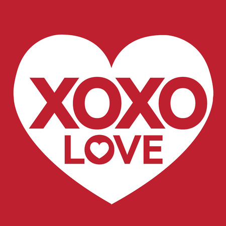 xoxo: I Love You Xoxo illustration