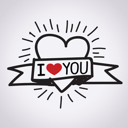 love couple: I Love You illustration