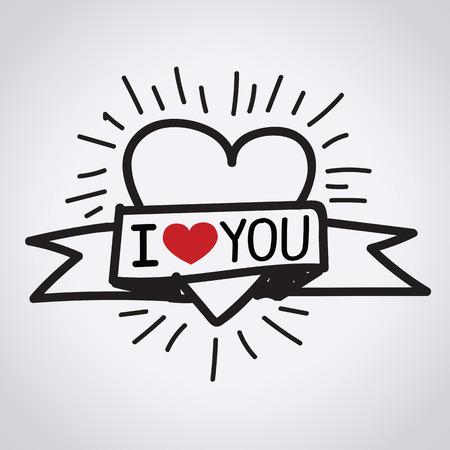 Ik hou van jou illustratie
