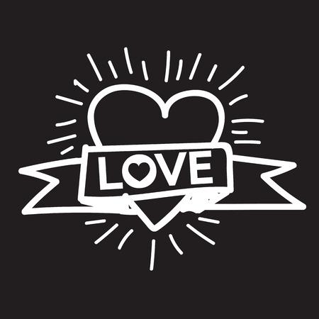 Heart Love Xoxo , Valentines day illustration Vettoriali