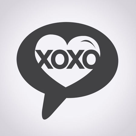 Heart Love Xoxo , Valentines day illustrations and typography elements , day, xoxo Vector