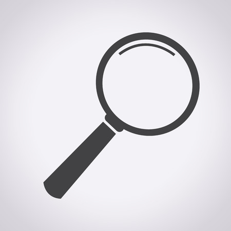 isolated icon: Magnifying Glass Icon, lente d'ingrandimento, ricerca delle icone