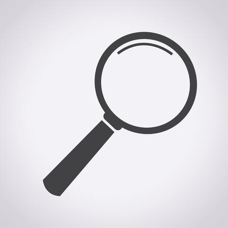 Magnifying Glass Icon, lente d'ingrandimento, ricerca delle icone