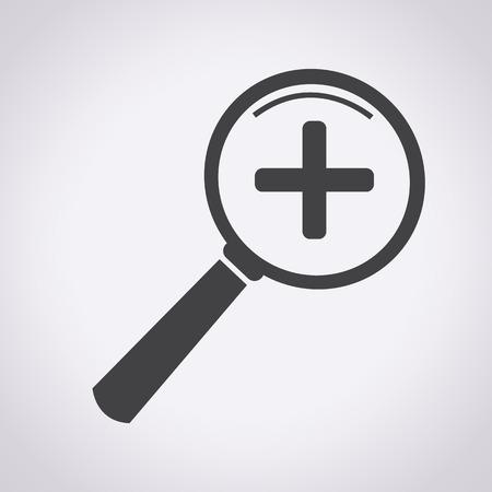 lupa: Acercar y Alejar icono, icono de la lupa, lupa, b�squeda de iconos, lupa icono vector
