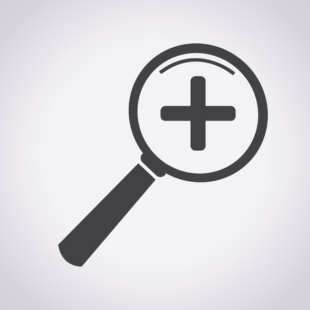 zvětšovací sklo: Přiblížení a oddálení Icon, zvětšovací sklo ikona, zvětšovací sklo, hledání ikona, zvětšovací sklo ikona vektor