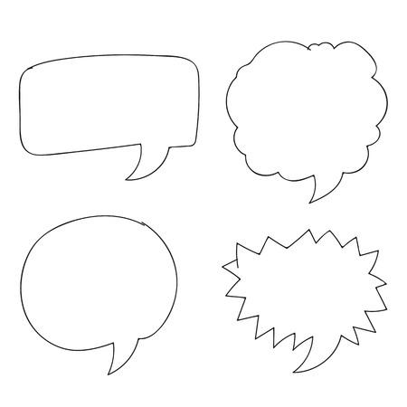 Free Vector Hand drawn bubbles speech Vector