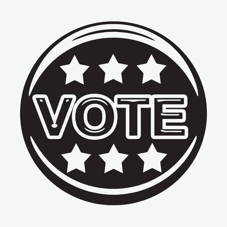 vote: vote icon ,  vote,  vote button Illustration