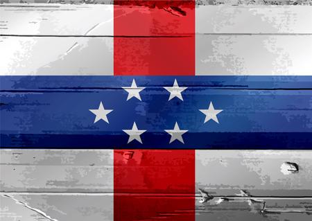 antilles: Netherlands Antilles flag themes idea design Stock Photo