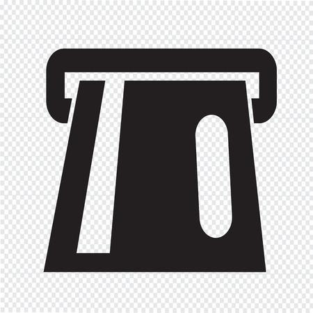 Atm Icon atm card slot icon Vector