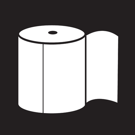 bath room: Toilet Paper Icon Illustration