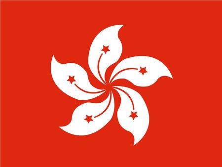 Flag of Hong Kong , China Ilustração