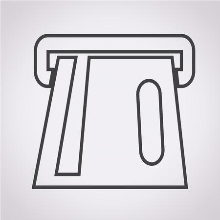 atm card: Icono de ranura para tarjetas atm atm Icono