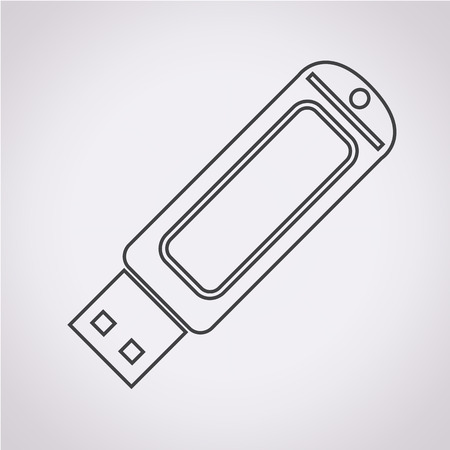 usb flash drive: USB Flash drive icon Illustration