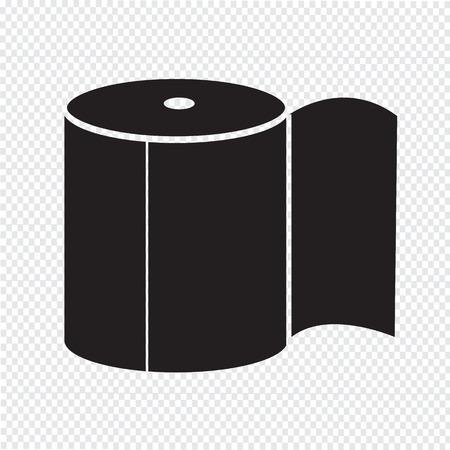fecal: Toilet Paper Icon Illustration