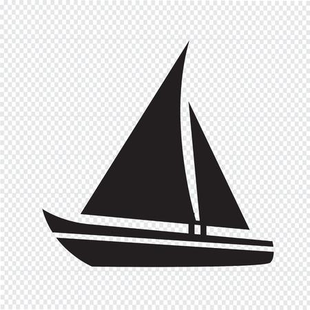 bateau voile: Voilier ic�ne Illustration
