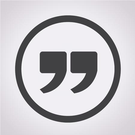 quotation: Quote sign icon , Quotation mark Illustration