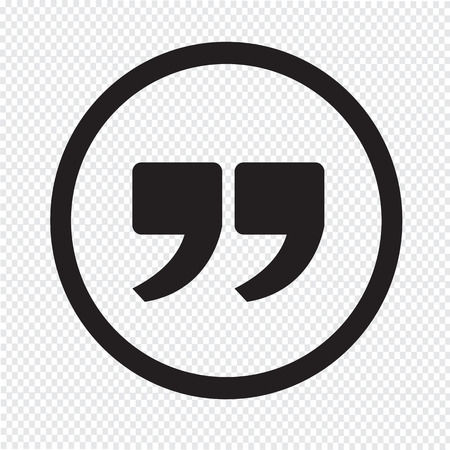 speech marks: Quote sign icon , Quotation mark Illustration