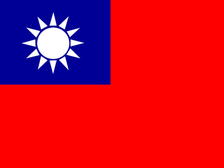 Flag of the Republic of China ,Taiwan Flag Иллюстрация