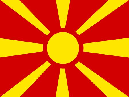 macedonia: Flag of Macedonia Illustration