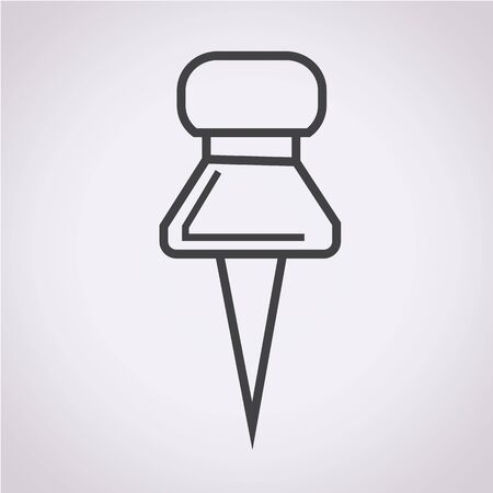 push pin icon: push pin icon Illustration