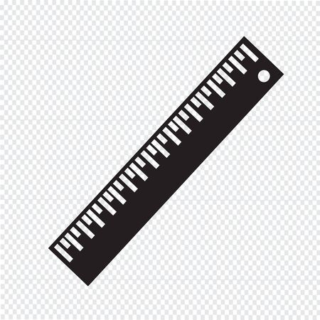straightedge: Ruler Icon ,Straightedge icon Illustration